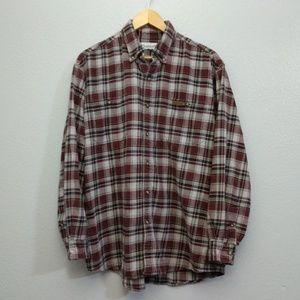 Carhartt 2XL XXL Red Plaid Button Up Work Shirt